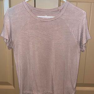 pink striped shirt sleeve